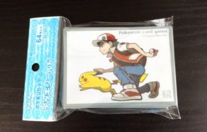 Image of Red-pikachu-official-card-sleeve